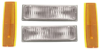 88-93 GMC 4Pc Front Marker Lights
