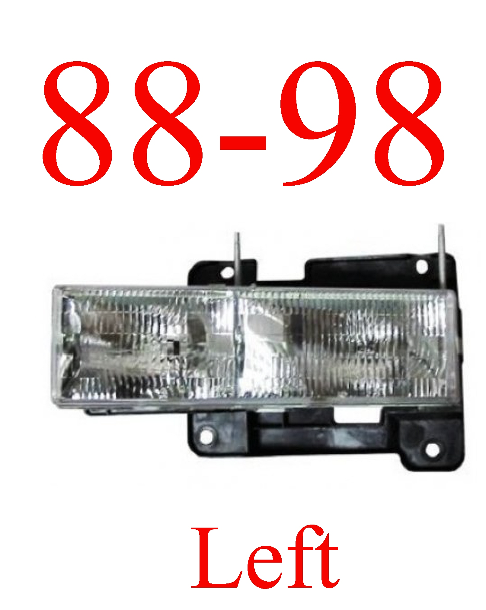 88-98 Chevy Left Head Light Assembly Composite