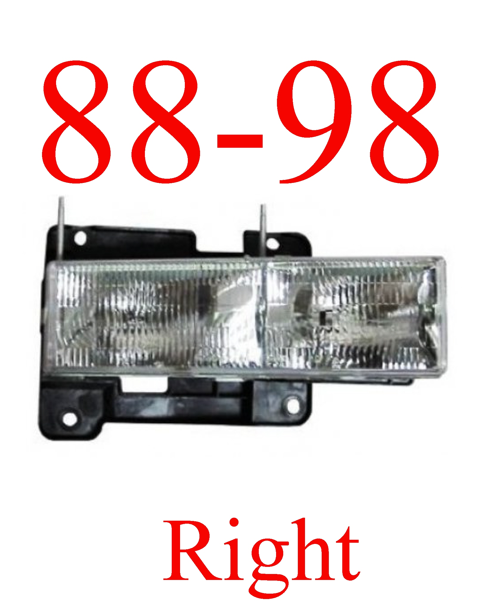 88-98 Chevy Right Head Light Assembly Composite