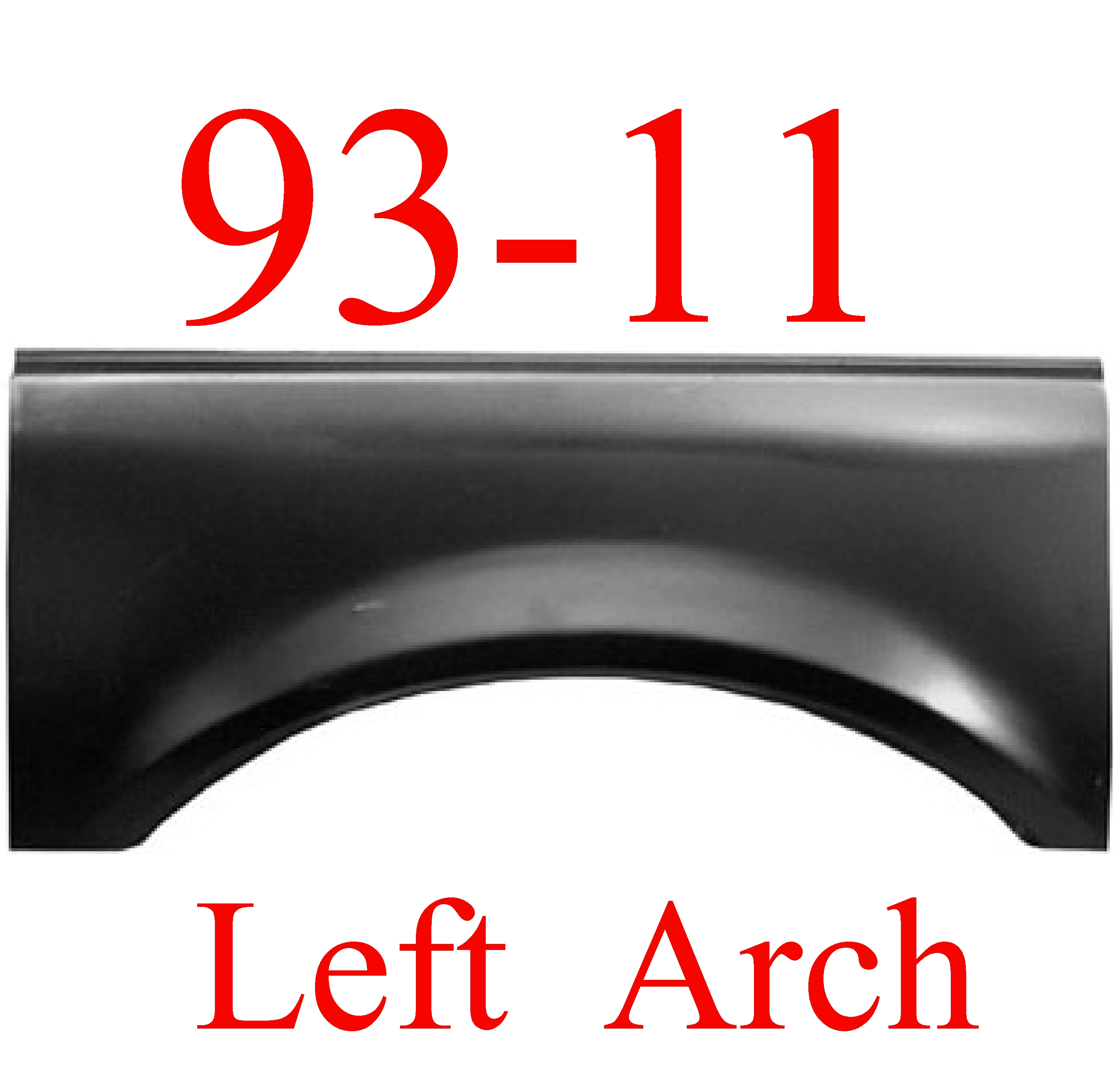 93-11 Ford Ranger LEFT Upper Arch