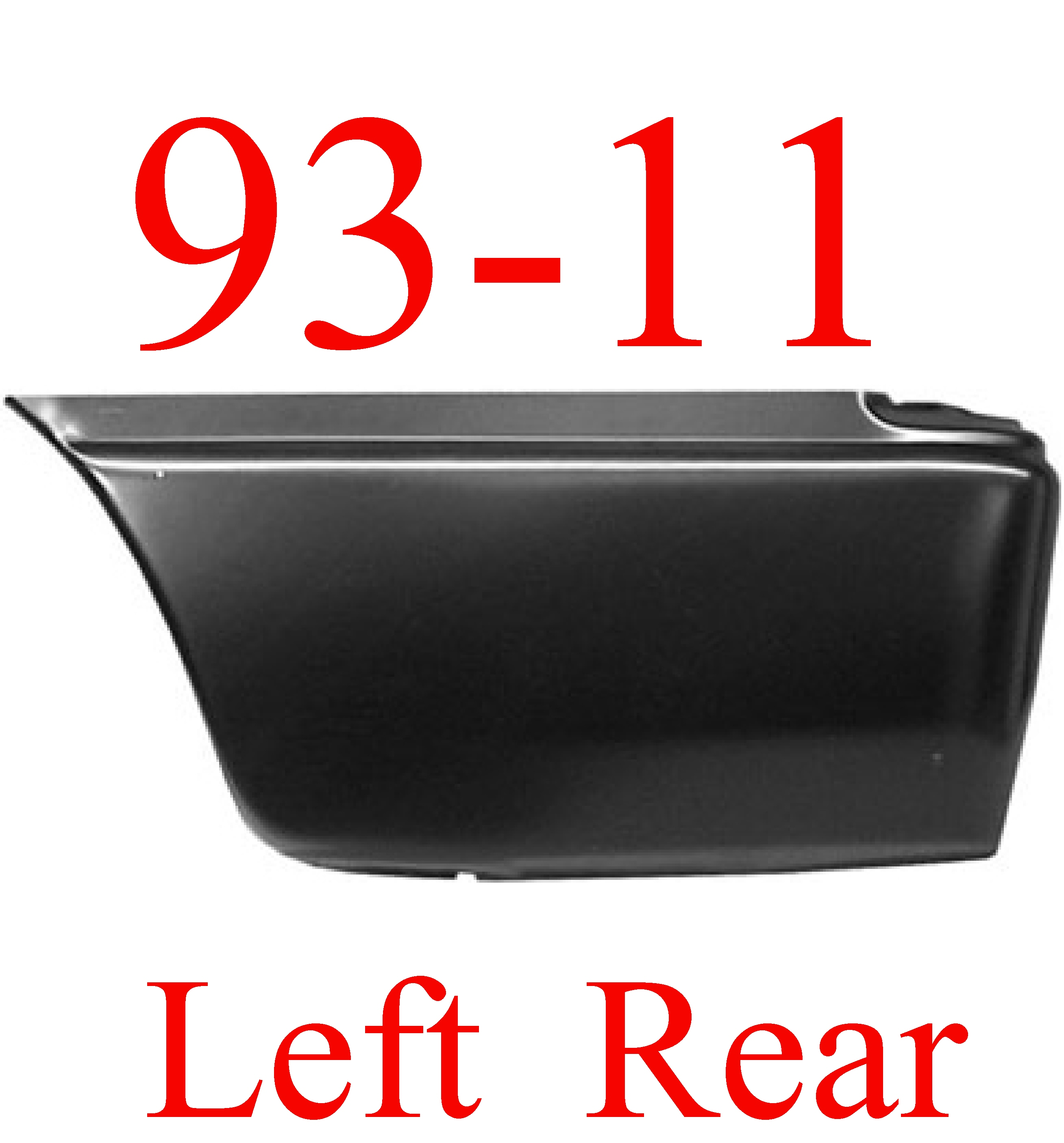 93-11 Ford Ranger LEFT Lower Rear Bed Patch