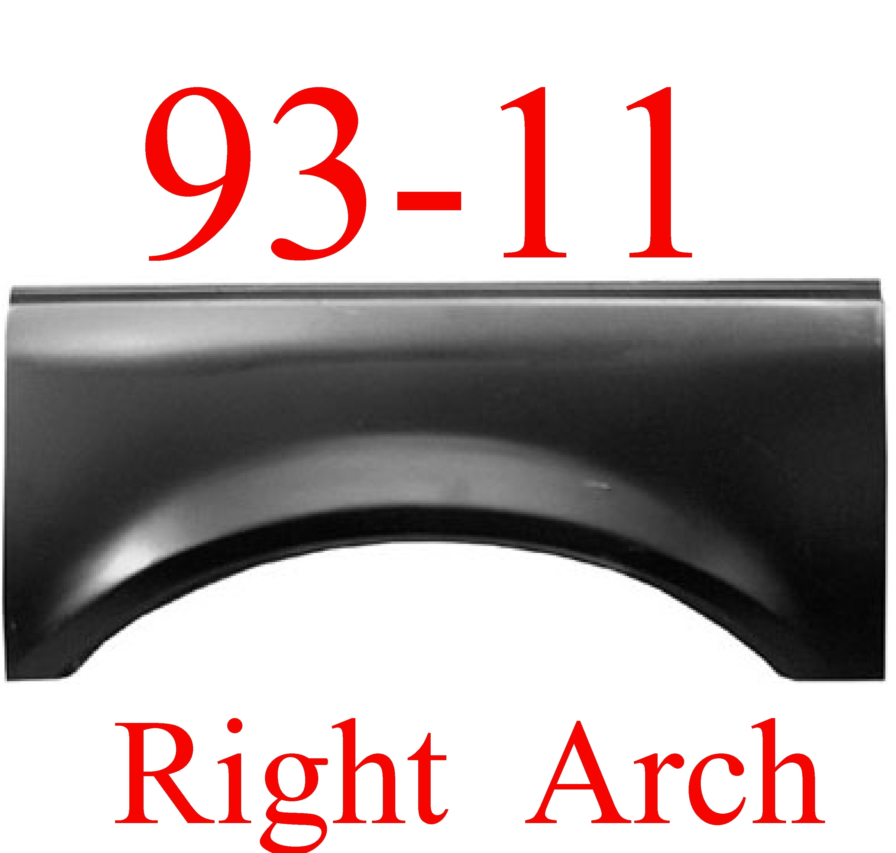 93-11 Ford Ranger RIGHT Upper Arch
