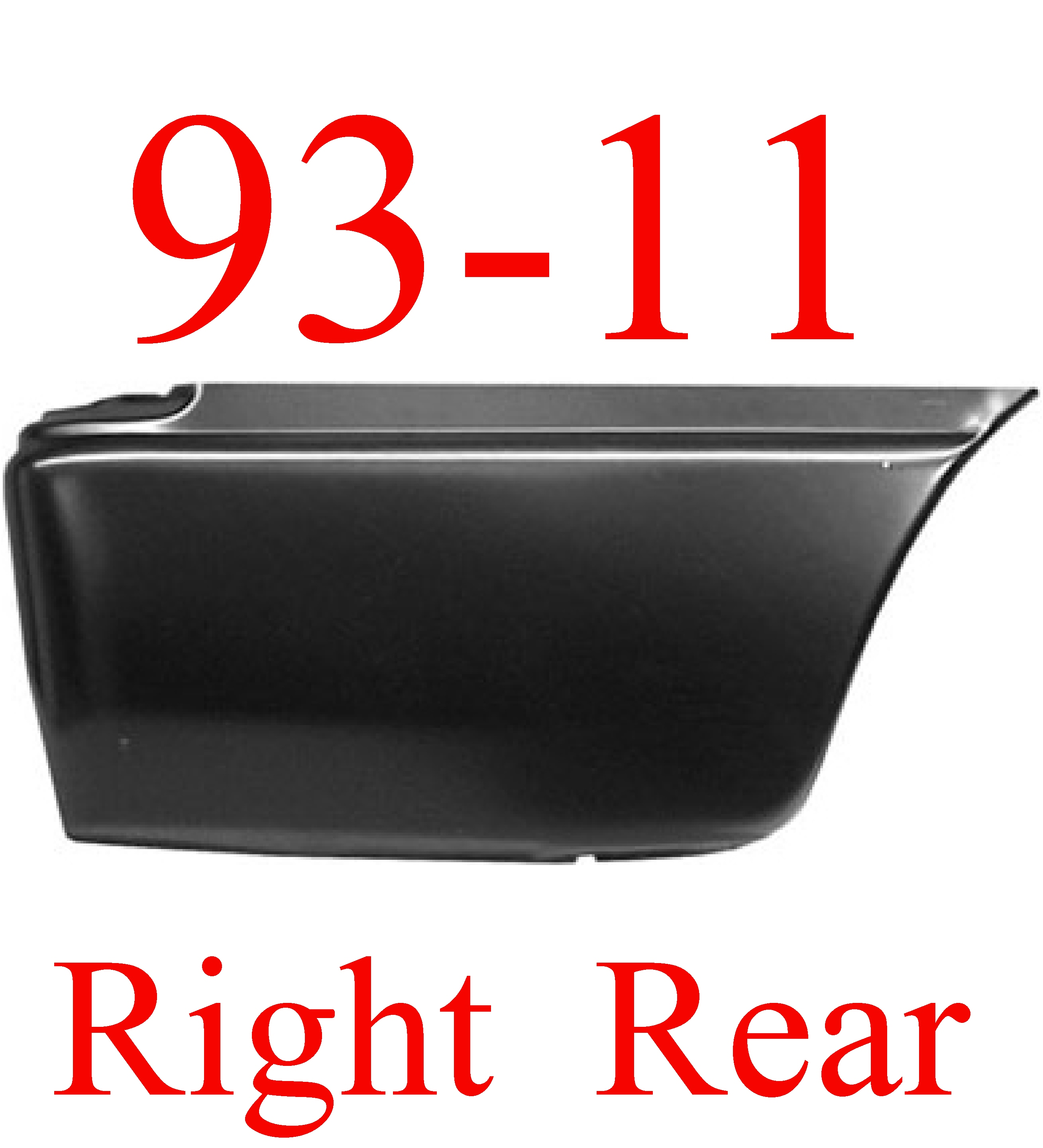 93-11 Ford Ranger RIGHT Lower Rear Bed Patch
