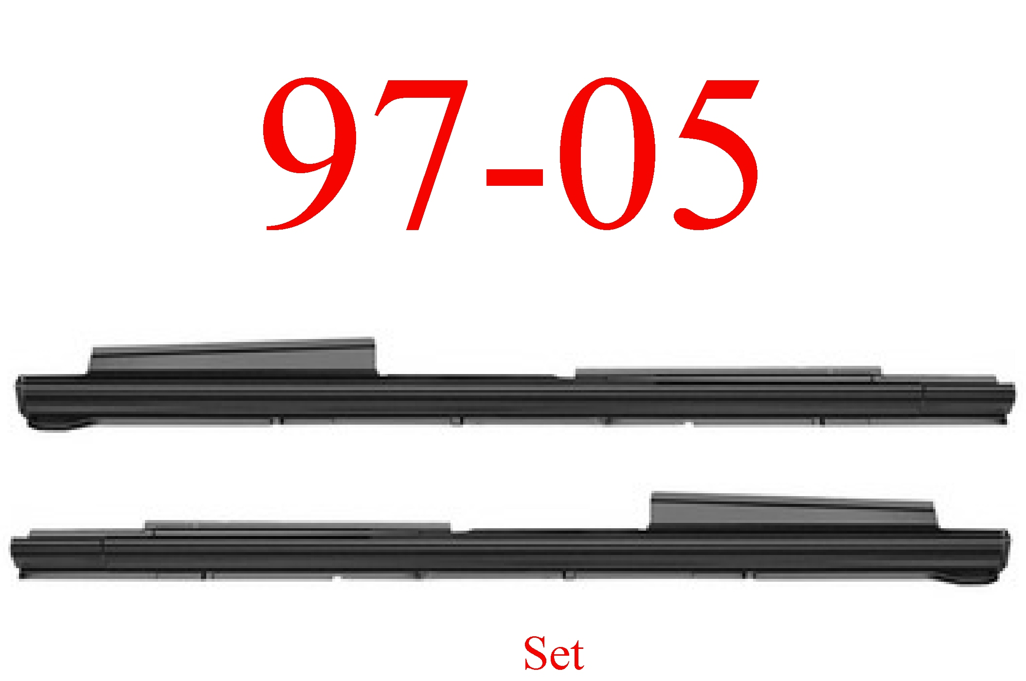 97-05 Chevy Venture Extended Rocker Panel Set